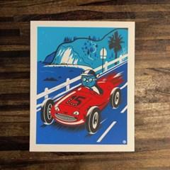 [핸드메이드 포스터] Cat Racer