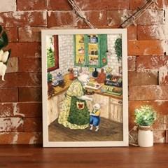 [A3 포스터, 캔버스액자] 할머니와 손녀