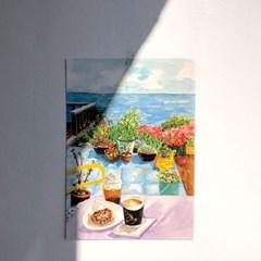 [A3 포스터, 캔버스액자] 등대카페