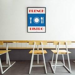프렌치 비스트로 M 유니크 인테리어 디자인 포스터 식당
