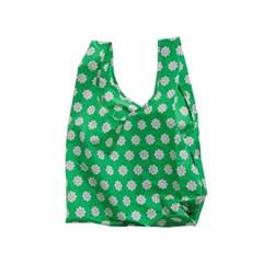 [바쿠백] 휴대용 장바구니 접이식 시장가방 Green Daisy_(2483654)