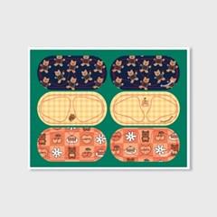Earpearp air pods sticker pack-green_(1500397)