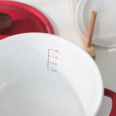 에지리 인덕션 법랑 양수냄비 18cm / 레드(ECC-18W)