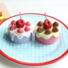 빈티지 생크림 케이크 캔들