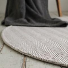 원형 헤링본 사계절 거실 침실 러그 물세탁 150x150cm_(1757921)