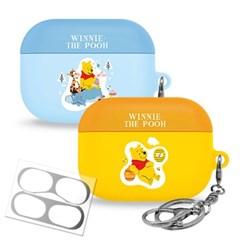 곰돌이 푸 파스텔 에어팟 프로 하드 케이스 + 철가루 방지 스티커
