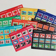 Full sheet Stamp sticker - 우표스티커 6종