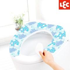 [LEC] 꽃무늬 변기시트커버(블루수국) [BB-483]