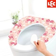 [LEC] 꽃무늬 변기시트커버(핑크부케) [BB-482]