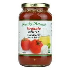 심플리내츄럴 유기농 토마토&머쉬룸 파스타소스 (2개 묶음)