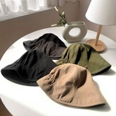 무지 뒷주름 벙거지 모자