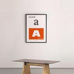셰리프 타이포그래피 M 유니크 인테리어 디자인 포스터