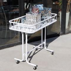 접이식 매장 마트 이동식매대 트레이선반 핸드백 가방 상품진열장