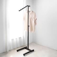 튼튼한 철제 조립식 한쪽걸이 ㄱ자행거 코끼리헹거 스탠드옷걸이