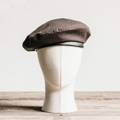 BS OXFORD FLAT BERET (brown)