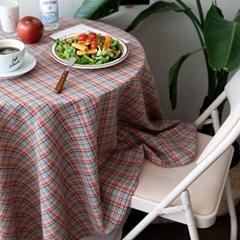 온더오렌지주스체크 식탁보 테이블보 2size 테이블러너