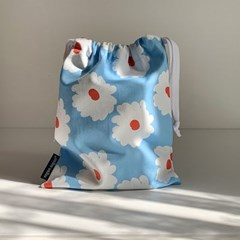 floral string pouch_m