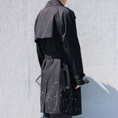 painting double trench coat (2color)