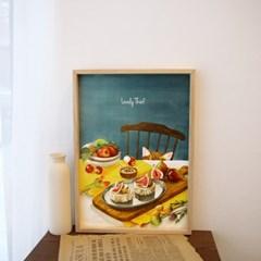 [A3 포스터, 캔버스액자] 귀여운 도둑