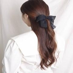 [블루밍데이] 스트라이프 리본 머리끈_블랙(AGHT0313HBBJ)