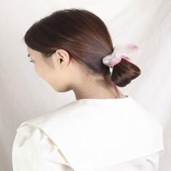 [블루밍데이] 수채화 헤어슈슈 곱창머리끈_핑크(AGHT0301HBNP)