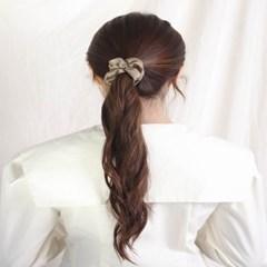 [블루밍데이] 린넨 헤어슈슈 곱창머리끈_브라운(AGHT0305HBRR)