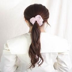 [블루밍데이] 도트 헤어슈슈 곱창머리끈_핑크(AGHT0303HBPP)