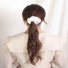 [블루밍데이] 데일리 헤어슈슈 곱창머리끈_아이보리(AGHT0304HBWW)