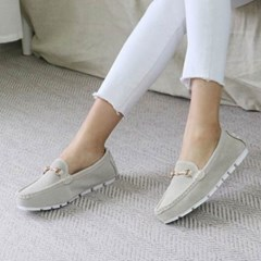 kami et muse Mesh suede gold chain loafers_KM20s004
