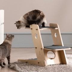라샘 자작나무 원목 고양이 오리 캣타워 기본형 GOCT196_(1421357)
