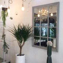 꼬떼따블 엔틱 우드프레임 사각 창문 벽거울 대형거울