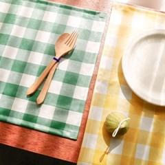 방수 체크사각 테이블 매트