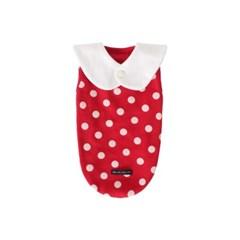 [T.삐삐 도트민소매]Pippi dot sleeveless_Red