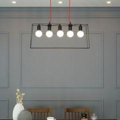 밀란 5등 LED 북유럽 수입 식탁등 조명