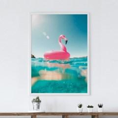 핑크튜브 감성 인테리어 액자 여름 그림 포스터
