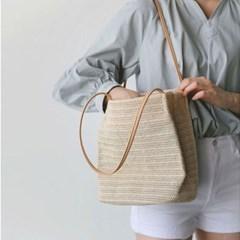 리띠 여성 라탄백 왕골가방 여름가방 숄더백_(2352451)