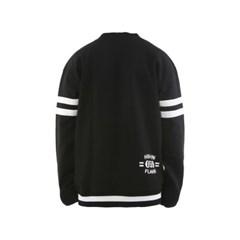 슈가포인트 남녀공용 크루넥/맨투맨 기모 안감 티셔츠 TOMO - BLACK