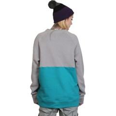 슈가포인트 여성용 맨투맨 기모안감 티셔츠 GRETA - L.GREY/MINT