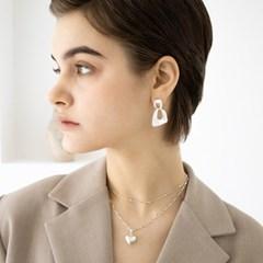 oval cross earring