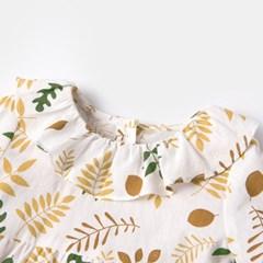돌핀웨일 옐로리프프릴원피스(60~125cm)