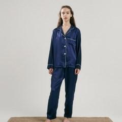 (w) Eco Charmeuse Pajama Set Navy
