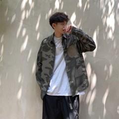 [1+1] 남자 봄 신상 밀리터리 배색 포켓 기본핏 셔츠 남방