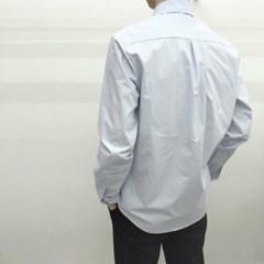 캐주얼 기본 루즈핏 솔리드 라인 워싱 면 셔츠 남방