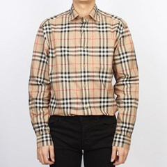 20SS 버버리 CAXTON 빈티지 체크 셔츠 (남성/베이지) 8020863 A7028