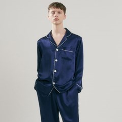(m) Eco Charmeuse Pajama Set Navy