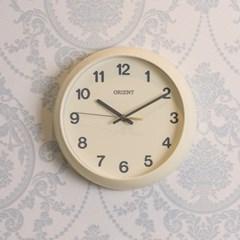 오리엔트 무소음 미니 라운드 인테리어벽시계 23cm 2종 택 1