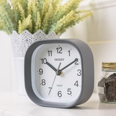 오리엔트 OT835 무소음 라운드스퀘어 벽탁상겸용 인테리어벽시계