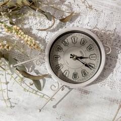 화이트 엔틱 빈티지 탁상 시계