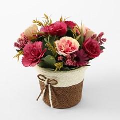 프리티플 카네이션 조화화분/ 핑크 인테리어조화꽃