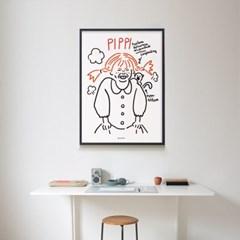 삐삐 M 유니크 인테리어 디자인 포스터